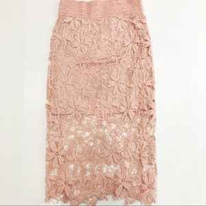 Meraki Pink Lace Skirt size Medium